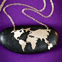 Wholesale Gold Looking Jewelry Wholesale - Hot selling Exquisite world map necklace jewelry. Seven continents connected world map necklace. Look around the world. Travel lovers