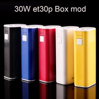 Wholesale Cheapest Battery Mods - Cheapest ECT Mini TC box mod eT30P 30w 2200mah battery for electronic cigarette extract oil Atomizer