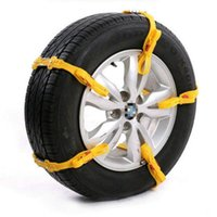 Wholesale DHL pc High quality Car Low Temperature Resistant General Yellow Anti Slip Chain Automobile Accessories