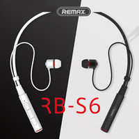 Wholesale Multi Usb Connection - Remax Sports Neckband Bluetooth Headset RB-S6 Wireless Stereo Earphone Music Headphone Bluetooth V4.1 HD Mic Multi Connections