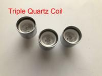 Wholesale Electronic Vaporizer Cartomizer - D-CORE Triple Quartz coils wax atomizer Ceramic quartz rob wax vaporizer dual heating coils wax cartomizer e cigarette electronic Cigarette