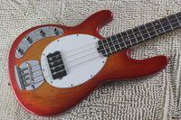 Wholesale Sunburst Bass - Left Handed High Quality Sunburst Music Man Black Ernie Ball Sting Ray 4 String Electric Bass Guitar Free shipping