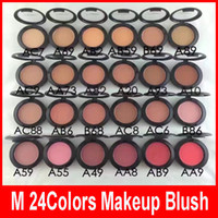 M Blush Cosmetici Makeup Face Blush 6g Power Pressed Highlighter Marche Blusher Make Up Tools Colori singoli 24 colori