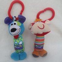 Wholesale Toys Kangaroos - Wholesale- Mini Size Colorful animal rattle Strollers Accessories Infant car pendant toys to appease Koala kangaroo model dolls