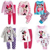 Wholesale Children Sleepwear Nightwear Pyjamas - High Quality Children Cute Cartoon Baby Kids Girls Nightwear Pajamas Pyjamas Sleepwear Suit