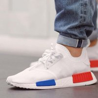 Wholesale Nice Goods - Good Quality NMD Runner R1 Primeknit OG Black Triple White Nice Kicks Circa Knit Men Women Casual Shoes Sneakers Classic sport Shoes 5-10
