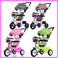 Wholesale Tricycle Stroller Bike - Portable Baby Toddle Child Tricycle Bike Trolley Stroller Removable To Wash Transformer Tricycle Pushchair Pram Bicycle 6M~5Y