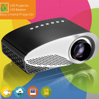 Wholesale hd laptop online - Mini Portable Projector with ATSC P HD LED LCD Projectors GP8S Multi Media Player HDMI VGA USB Home Theater Cinema for iPad Laptop