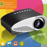 mini proyectores para ipad al por mayor-Mini proyector portátil con ATSC 1080P HD LED proyectores LCD GP8S multi-reproductor de medios HDMI / VGA / USB cine en casa para iPad