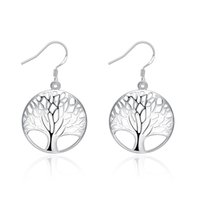 Charm packaging design china - Tree Earrings New Design Bulk Package Min Order Pairs E738 Fashion Jewelry Woman Silver Exaggerated Big Charm