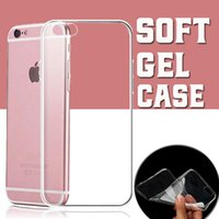 Wholesale Iphone 5s Gel Cover - Ultra Thin Slim Soft Silicone Crystal Clear Transparent Flexibilty TPU Gel Cover Case Skin For iPhone 8 7 Plus 6 6S 5S Samsung S8 S7 edge
