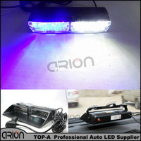 Super Bright S2 16 LED Azul / Blanco Dash Emergencia coche Policía Strobe Flash Light 18 luces intermitentes