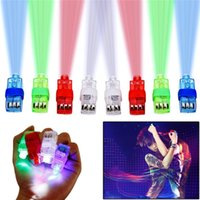 Wholesale Led Multi Laser Beam Wholesale - Multi-color Bright LED Laser Finger Ring Light Lamp Beams Torch For Easter Party KTV Bar Gadgets Kids Toy Gift Hot Selling