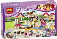 Wholesale Enlighten Girls - Wholesale- BELA 10160 Building Blocks Friends Heartlake Swimming Pool Park Enlighten Educational Brick Toys for Girls Compatible with Lepin