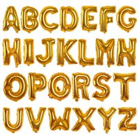 Wholesale Wholesale Halloween Inflatables - Gold Silver 16inch Alphabet English Letter A-Z Number 0-9 Inflatable Aluminum Balloons Birthday Wedding Party Decorations Foil Balloon
