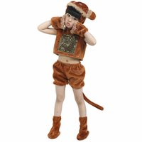 Wholesale Monkey Children Clothes - Hot sell Children Cosplay Costumes Kids Clothing Set Children Monkey Masquerade Party Clothes Children's Dance Costume free shopping