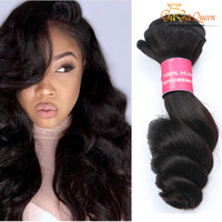 Wholesale best human hair weave - Peruvian Virgin Hair Loose Wave Dyeable Best Quality Unprocessed Human hair Extensions Black Color Gaga Queen Hair Factory