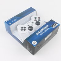 Wholesale Wireless Controller Wholesale - PS3 controllers Wireless Controller Game Controllers Double Shock playstation PS 3 with retail box High Quality