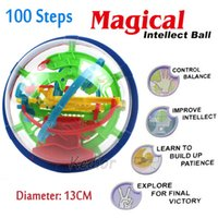 Wholesale Jouet Puzzle - Wholesale- 2016 Real Jouet Enfant Hot Sale 100 Steps Educational Toy Magic Puzzle Game Ball For Intellect Balls Magnetic Puzzles For Kids