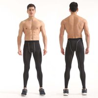 Wholesale Fast Mid - Men's Elastic Compression Base Layer Long Pants Fast-drying Trousers Basketball Running Fitness Clothes Pro Sports Tights