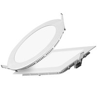 panel led ultra delgado al por mayor-Panel de luz led ultra regulable ultra delgado 3W 4W 6W 9W 12W 15W 18W Redondo / Cuadrado LED de luz empotrada en el techo LED Downlight
