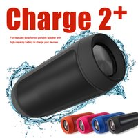 Wholesale Charging Bank Batteries - Hot Selling Charge 2 + Wireless Bluetooth Speaker Mini Portable Stereo Speakers Waterproof with 1200mAh battery Can Be Used As Power Bank