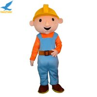 Wholesale Mascot Costume Bob - Fancytrader High Quality Bob The Builder Mascot Costume Fancy Dress Character Costume Cartoon Costume for Party Halloween Free Shipping