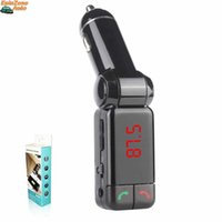 Wholesale Mp4 Sd Card Speaker Player - Free DHL BC06 Bluetooth MP3 Radio Player Handfree FM Transmitter Modulator Car Charger Wireless Kit Support Micro SD TF Card U Disk
