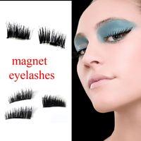 Wholesale Individual Lashes Set - Magnetic Eye Lashes 3D Mink Reusable False Magnet Eyelashes Extension 3d eyelash extensions magnetic eyelashes Round box 4pcs in 1 set
