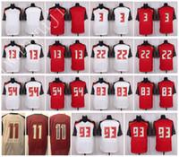 Wholesale 11 Style Xxl - Men Elite Style Stitched Bucaneers Blank #3 WINSTON #11 JACKSON #13 EVANS #22 MARTIN #54 DAVID #83 JACKSON #93 Red White football jerseys