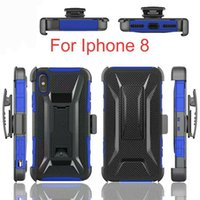 Wholesale Iphone Sleeve Clip - For iphone 8 T-Type Clip Back Sleeve For iphone 7 Cell Phone Case Dirt Resistant Quakeproof