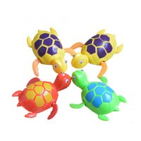 Wholesale turtle toy bath resale online - Baby Kids swim turtle wound up chain small animal Baby bath toy classic toys Random Color