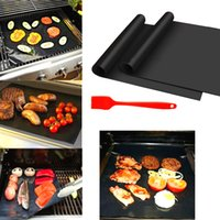 Wholesale Grilling Tool Sets - 5pcs set BBQ Grill Mats Non-stick Grill Mats Barbecue Grilling Liner 13*17 inches Portable Non-stick Easy Clean Reusable Barbecue Mats Tool