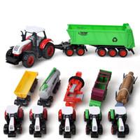 Wholesale Wholesale Toy Tractors - 1:72 Sliding Alloy Toys Farmer Farm Tractor Planting Machine Sprinkler Inertia Model Engineering for Children Wholesale