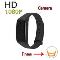 Wholesale Video Audio Dvr Watch - Ugetde HD 1080P Portable Wristband Spy Camera,Smart bracelet sports camera,Hidden Camera Audio Video Recorder watch dvr