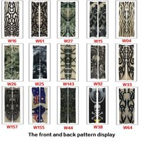 Wholesale Tattoo Arms For Men - Fashion Multi style 100% Nylon elastic Fake temporary tattoo Sleeves Designs Anti UV Arm Stockings Tattoo for cool men women