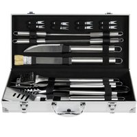 Wholesale grill pieces - BCP 19pc Stainless Steel BBQ Grill Tool Set With Aluminum Storage Case
