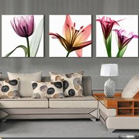 Wholesale Oil Picture Flower - American Prints Abstract Oil Painting Flower Painted On Canvas Art Pictures Wall Pictures For Living Room Handmade Painting On The Wall