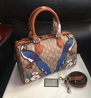 Wholesale Colourful Bags - Hot sales New style high quality fashion brand 35cm women leather Embroidery Flowers Floral colourful handbag shoulder bags totes Cross Body