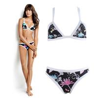 Wholesale Womens Swim Suits Bikini - 2017 Summer New Womens Triangle Bikini Set Swimming Tankini Push up Two piece suit Brazilian Biquini Tropical Swimwear Beachwear QP109