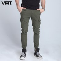 New Summer Elastic foot close Skinny Pants Tactical military Men's Cargo Pants Multi-pocket overalls (No Belt)