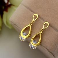 Wholesale Earrings Cuffs For Men - Fashion Punk Crystal Stud Earrings For Women Men Clip Cuff Earring stainless steel jewelry earrings
