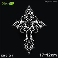 Wholesale Wholesale Number Iron Patch - Free shipping Rhinestones Heat Transfer Hotfix Iron On Motifs patches Free Custom Design DIY DH0106#