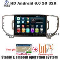 Wholesale Navi Gps Kia - QZ industrial 9inch HD Android 6.0 for Kia Sportage KX5 2016 2017 Car DVD player with 3G 4G WIFI GPS BT Radio RDS Navi SWC free map