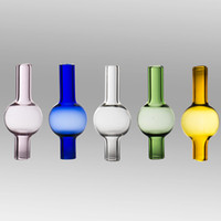 pyrex ball großhandel-Quarz Banger Vergaserdeckel Dabber Glas Carb Kappen Universal Pyrex Glaskugelkappe für domeless Quarz Banger Nägel 10mm 14mm 18mm dab rig