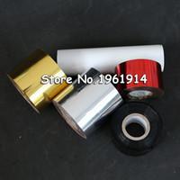 Wholesale Hot Stamping Foil Paper - Wholesale- 1 roll 4cm 6cm 8cm Hot Stamping Foil Paper Gilded Paper DIY Gold Foil Black Blue Golden Silver pink Laser Transperent Plain Foil
