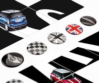Wholesale cartoon car set covers - 4pcs set 52mm Wheel Center Cover stickers Mini Cooper S one JCW clubman countryman R50 R52 R55 R56 R57 R58 R59 R60 car-styling
