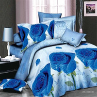 Wholesale Plain Comforters - Free shipping 4pcs lot very beautiful 3D active printed bedding supplies high quality China 4pcs bedding set with 200*230cm size