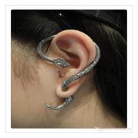 Wholesale Long Earrings Leave Cuff - Hot Temptation Snake Earrings Left Ear Cuff Silver Sexy Twine Wind Temptation Long Snake Stud Earring The Lowest Price Free Shipping