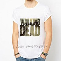 La maglietta stampata bianca di Walking Dead Maglietta a manica corta Girocollo Tops Unico Design Movie Play T-shirt